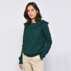 Пуловер с V-образным вырезом из тонкого трикотажа LOTERIA LEON AND HARPER. Цвет: зеленый,темно-синий,экрю