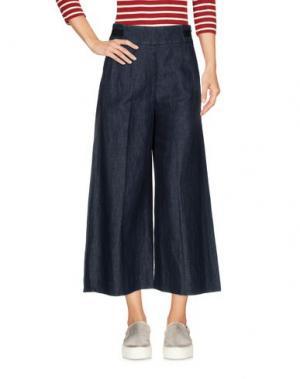 Джинсовые брюки-капри QL2 QUELLEDUE. Цвет: синий