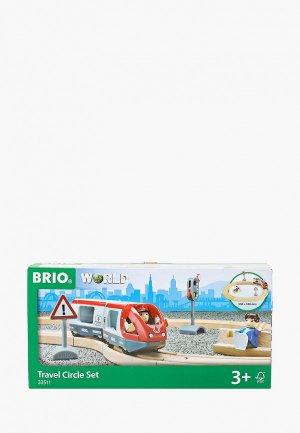Конструктор Brio  Ж/д со светофором и экспресс-поездом, 15 элементов. Цвет: разноцветный