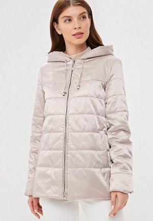 Куртка утепленная De Marse. Цвет: бежевый