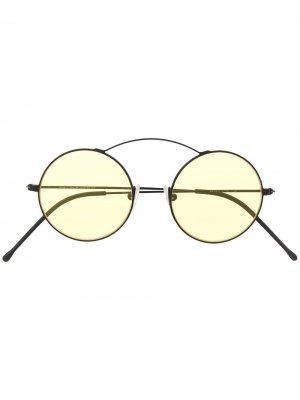 Солнцезащитные очки Met-ro в круглой оправе Spektre. Цвет: черный