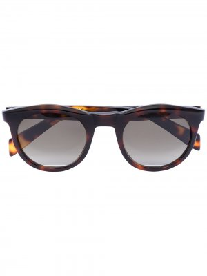 Солнцезащитные очки Watts с затемненными линзами Kirk Originals. Цвет: коричневый