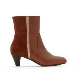 Ботинки кожаные Chelsea BENSIMON. Цвет: каштан