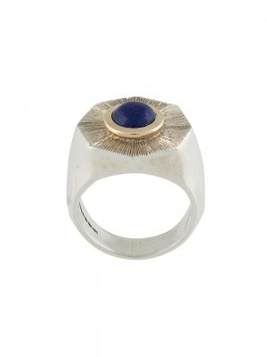 Серебряное кольцо с лазуритом Duffy Jewellery. Цвет: серебристый