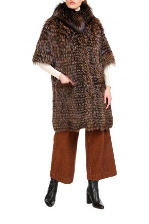 Fur coat Manakas. Цвет: brown