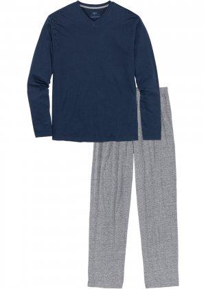 Пижама bonprix. Цвет: синий