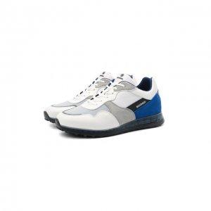 Комбинированные кроссовки Bogner. Цвет: белый