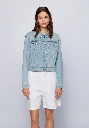 Куртка джинсовая Boss DENIM JACKET 1.0. Цвет: голубой