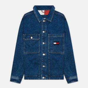 Мужская джинсовая куртка Boxy Shirt AE731 Tommy Jeans. Цвет: синий