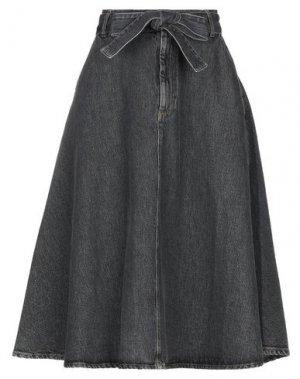 Джинсовая юбка AMERICAN VINTAGE. Цвет: свинцово-серый