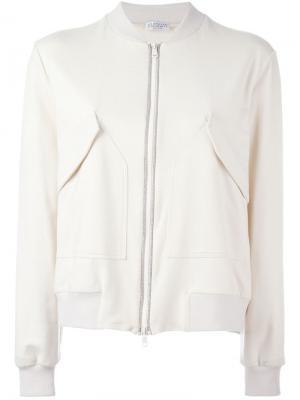 Куртка-бомбер с декорированной окантовкой Brunello Cucinelli. Цвет: телесный