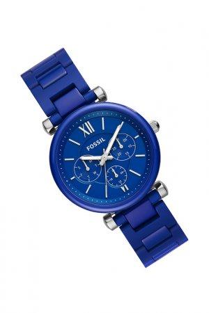 Часы наручные Fossil. Цвет: синий
