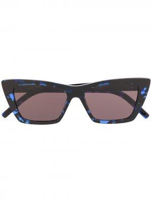 Солнцезащитные очки SL276 в квадратной оправе Saint Laurent Eyewear. Цвет: черный
