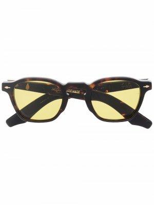 Солнцезащитные очки в квадратной оправе Jacques Marie Mage. Цвет: нейтральные цвета