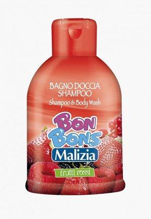 Шампунь Malizia RED FRUITS 500мл. Цвет: прозрачный
