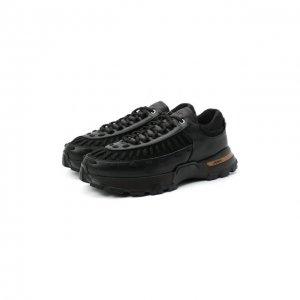 Комбинированные кроссовки Claudio Zegna Couture. Цвет: чёрный