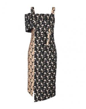 Платье до колена IXOS. Цвет: черный