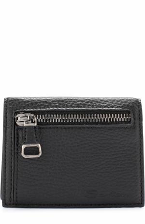 Кожаный футляр для кредитных карт с отделением монет Santoni. Цвет: черный