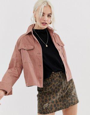 Розовая джинсовая куртка -Розовый New Look