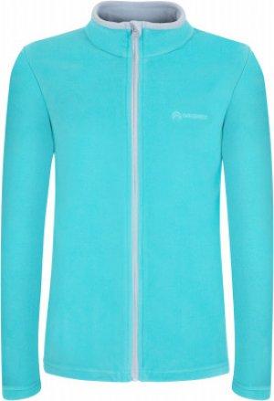 Джемпер флисовый для девочек , размер 104 Outventure. Цвет: голубой