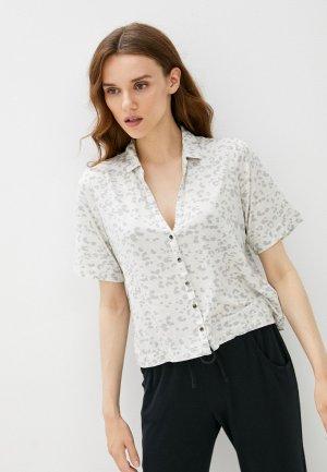 Рубашка домашняя Gap. Цвет: серый