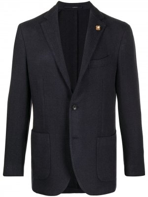 Однобортный пиджак Lardini. Цвет: синий