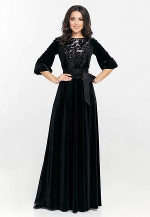 Платье Eva. Цвет: черный