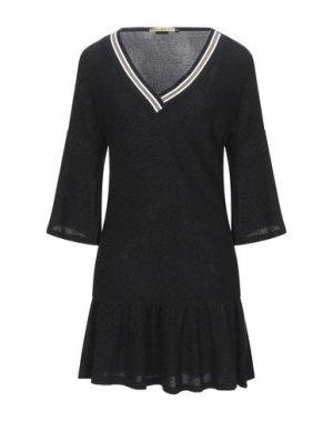 Короткое платье DENNY ROSE. Цвет: черный