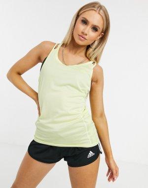 Желтая майка Rise Up N Run-Желтый adidas