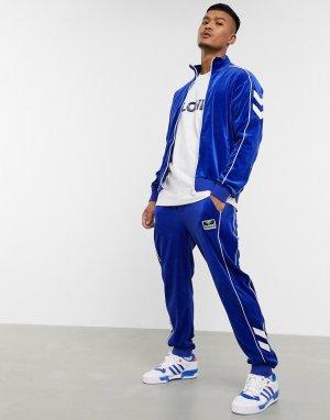 Синяя велюровая олимпийка Hive-Синий Hummel
