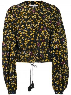 Укороченная блузка Aster с цветочным узором Derek Lam 10 Crosby. Цвет: bmu черный разноцветный