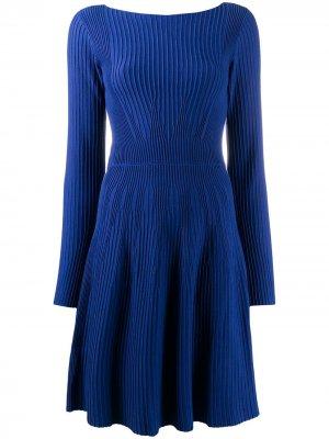 Платье с длинными рукавами Emporio Armani. Цвет: синий