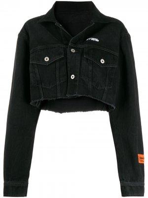 Укороченная джинсовая куртка Heron Preston. Цвет: черный
