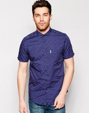 Рубашка с короткими рукавами и принтом Ben Sherman. Цвет: navy blazer