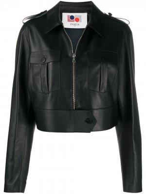 Укороченная куртка на молнии Ports 1961. Цвет: черный