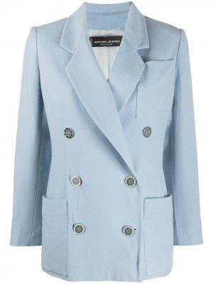 Двубортный пиджак 1990-х годов Jean Louis Scherrer Pre-Owned. Цвет: синий