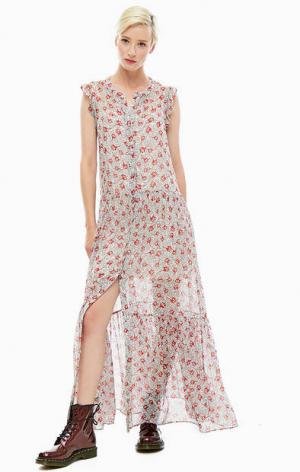 Длинное платье с цветочным принтом Tommy Jeans