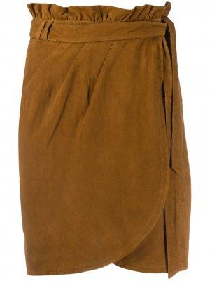 Юбка мини Ba&Sh. Цвет: коричневый