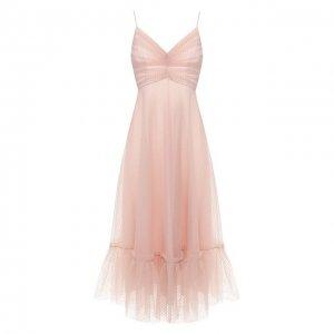 Платье-миди Zimmermann. Цвет: розовый