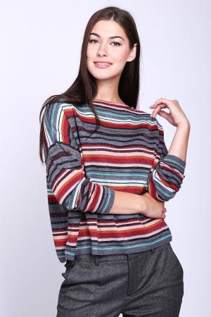 Пуловер Lecomte. Цвет: разноцветный