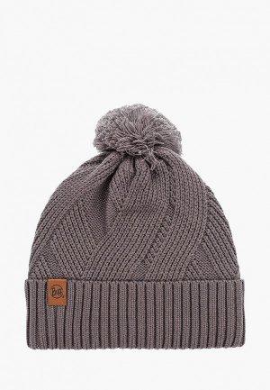 Шапка Buff Knitted&Polar Hat Raisa. Цвет: серый