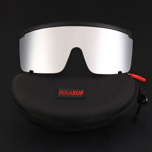Мужские велосипедные солнцезащитные очки с тонированными линзами SHEIN. Цвет: серебряные