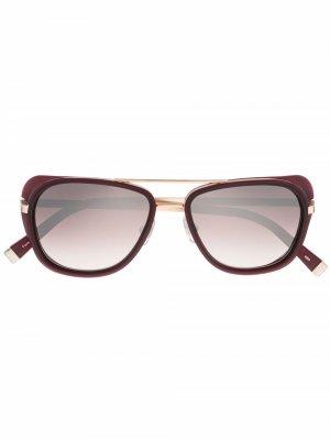 Солнцезащитные очки в оправе кошачий глаз Matsuda. Цвет: красный
