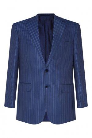 Синий костюм в полоску Stefano Ricci. Цвет: синий