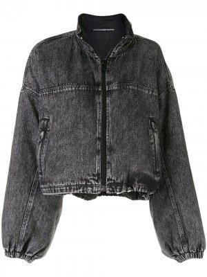 Джинсовая куртка-бомбер Alexander Wang. Цвет: черный
