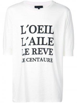 Классическая футболка с надписью Ann Demeulemeester. Цвет: белый