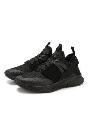 Комбинированные кроссовки Tom Ford. Цвет: чёрный