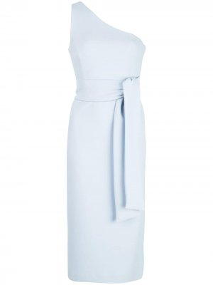 Платье миди на одно плечо Shona Joy. Цвет: синий