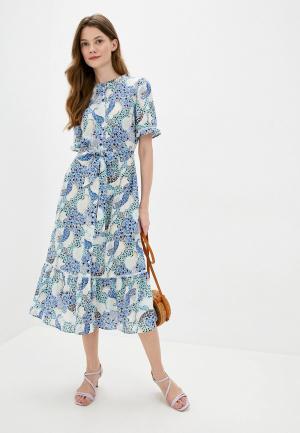 Платье Marks & Spencer. Цвет: разноцветный