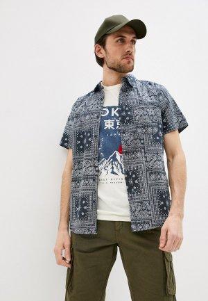 Рубашка Indicode Jeans. Цвет: синий
